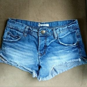 Free People Button Fly Cutoff Jean Shorts Size 25